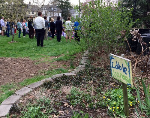 Students, faculty, staff, administrators, parents and town officials celebrated the 10-year anniversary of the CP Edible Gardens