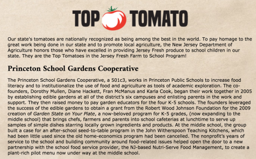 Awww. Thanks for naming us Top Tomatoes. We couldn't have done it without the whole community cooking and gardening alongside!